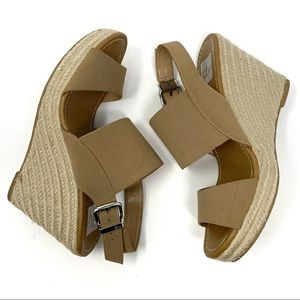 Dolce Vita Light Brown Espadrille Wedges Size 9
